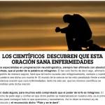 «Los científicos descubren que esta oración sana enfermedades» o cómo manipular la información