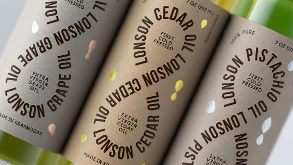Clean Oil Packaging Design With Clever Typography