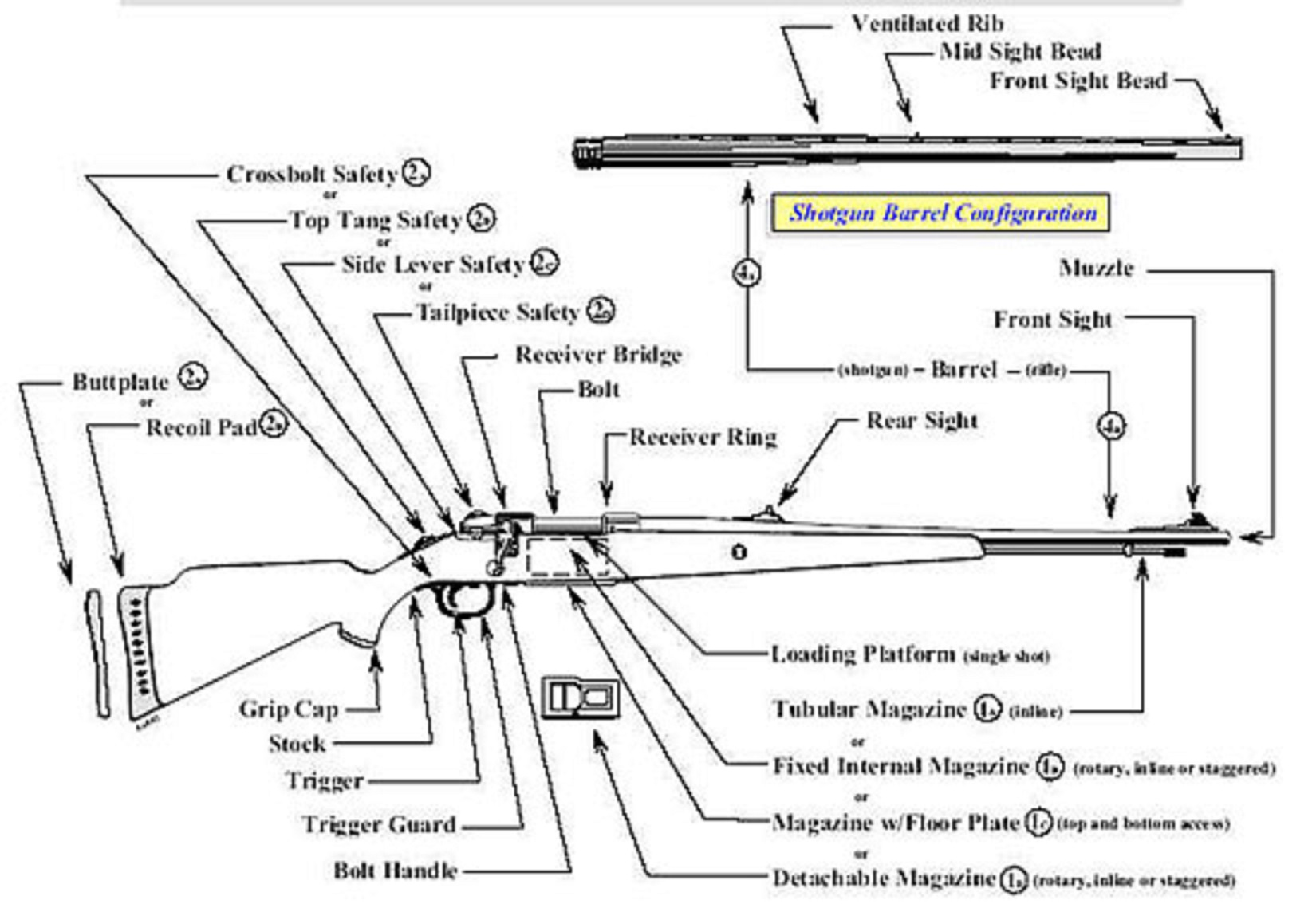 basic gun diagram 2001 dodge neon pcm wiring bolt action rifle and shotgun bureau of alcohol