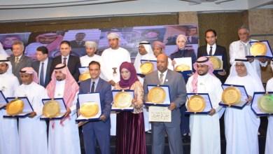 صورة عمانيون يتسلمون جوائز أوسكار الاعلام السياحي العربي 2019
