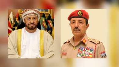 Photo of البوسعيدي والنبهاني يستقبلان مسؤولا عسكريًا بريطانيًا