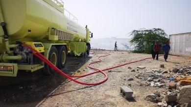 Photo of بالصور: السيطرة على حريق في غلا الصناعية