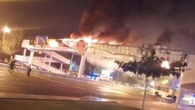 Photo of حريق في لوحة إعلانات بالقرم