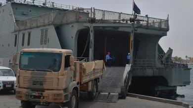 Photo of بالصور: البحرية السلطانية تنقل شحنات متنوعة إلى مسندم
