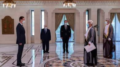 صورة سفيرنا يقدّم أوراق اعتماده لبشار الأسد