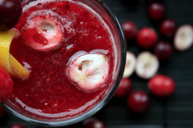 Cocktail Fruit Drink Cranberries Organic Berry
