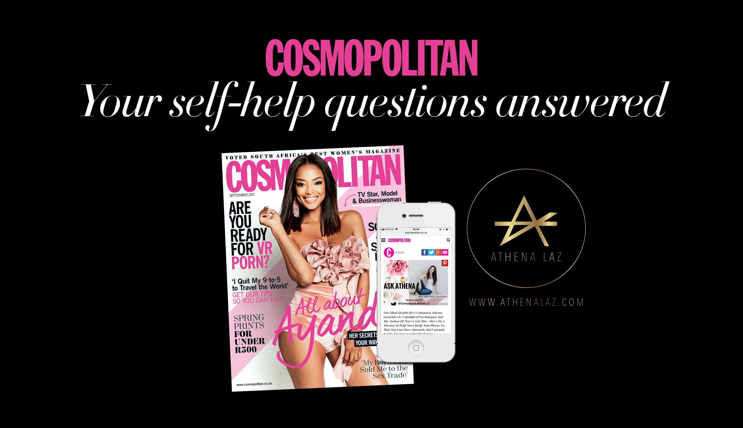 Athena Laz is a self-help and wellness expert for Cosmopolitan Magazine