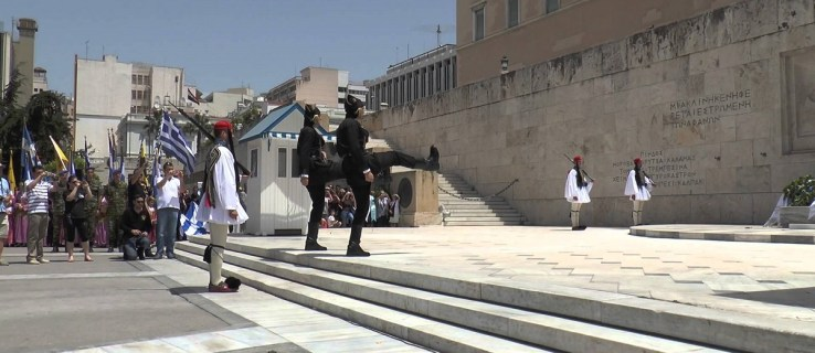athens syntagma square changing of guard