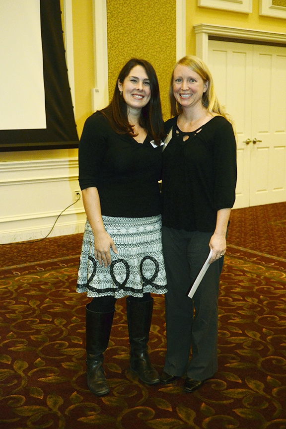 Liz Pahl, representative from the Athens Foundation with Birth Circle director, Claudia Bashaw.