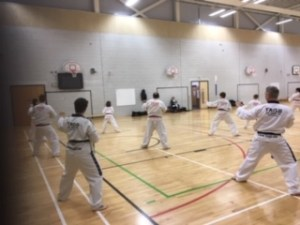 Training back at Castle Bromwich Taekwondo Club