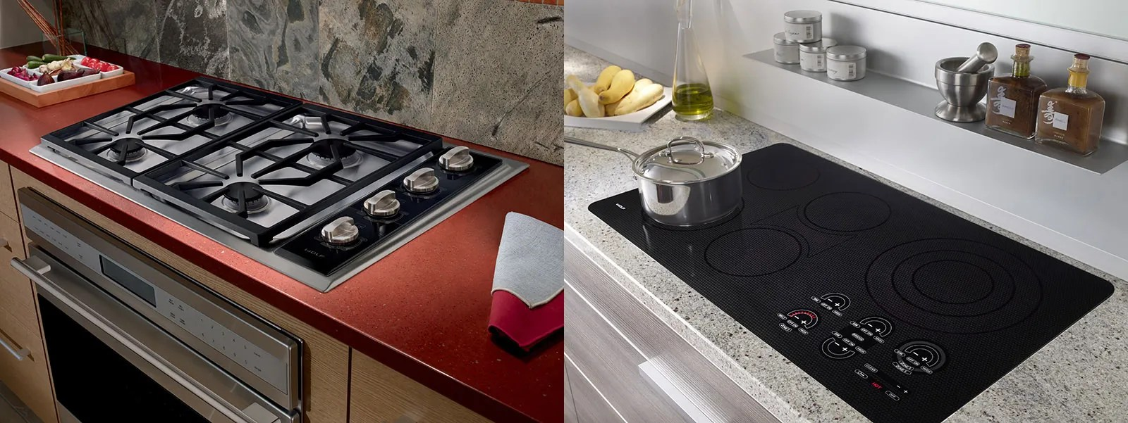 kitchen stove tops faucets best cooktop showdown gas vs electric atherton appliance wolf range and