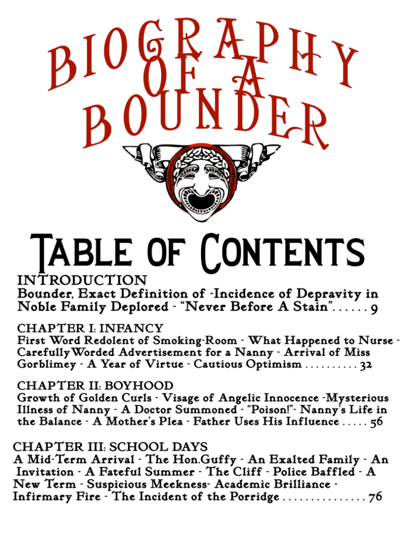 Bounder Table of Contents two