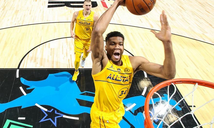 Team LeBron - Team Durant 170-150: Ο Αντετοκούνμπο MVP και στο All Star Game   ΑΘΗΝΑ 9,84