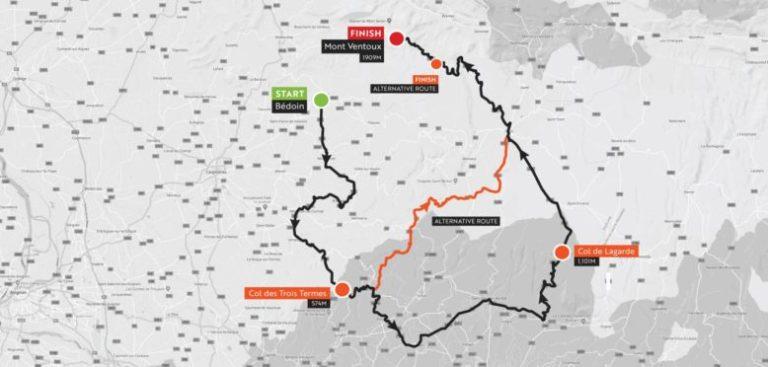 Haute Route Ventoux_stage1_map