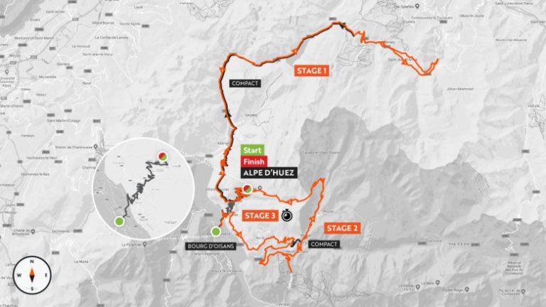Haute Route Alpe d'Huez-Map