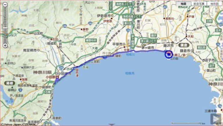 湘南小田原漁港ランチと城めぐり70km