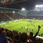 Arminia Bielefeld feiert den Einzug ins Halbfinale des DFB-Pokals. (Foto: athletic-brandao)