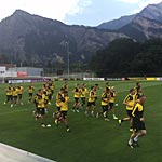 Im Training des BVB wird es eng. (Foto: athletic-brandao.de)