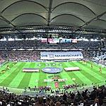 Die Arena in Frankfurt vorm Länderspiel gegen Polen (Foto: athletic-brandao.de).