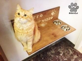 Mensola per gatti con ciotole