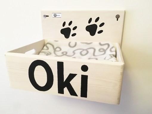 Cuccia per gatti in legno artigianale athleticat