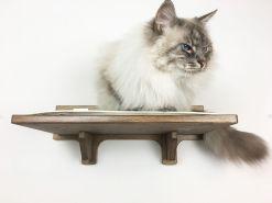 Mensola per gatti noce tessuto beige