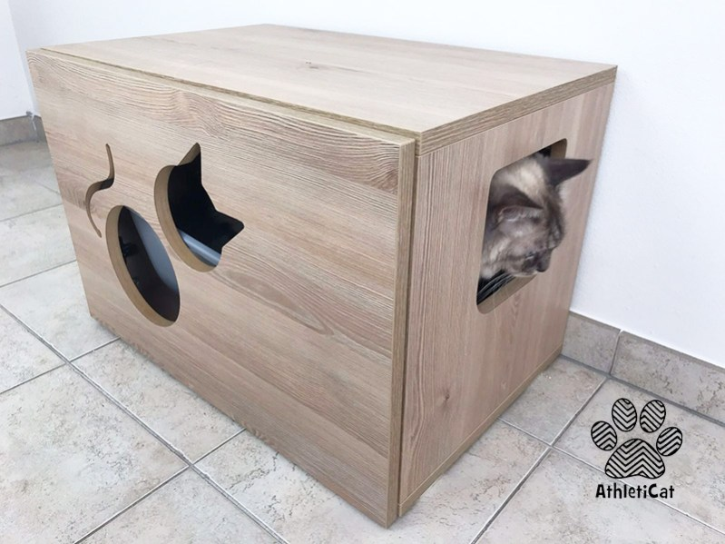 Cat Litter Box Cabinet Made In Italy Athleticat