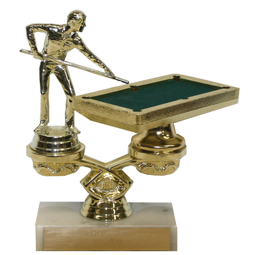Pool Table Trophy by Athletic Awards