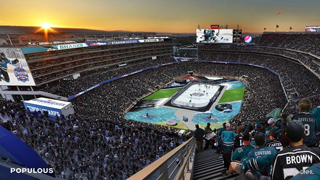 coors light chair best ergonomic this is what hockey at levi's stadium will look like - athletic business