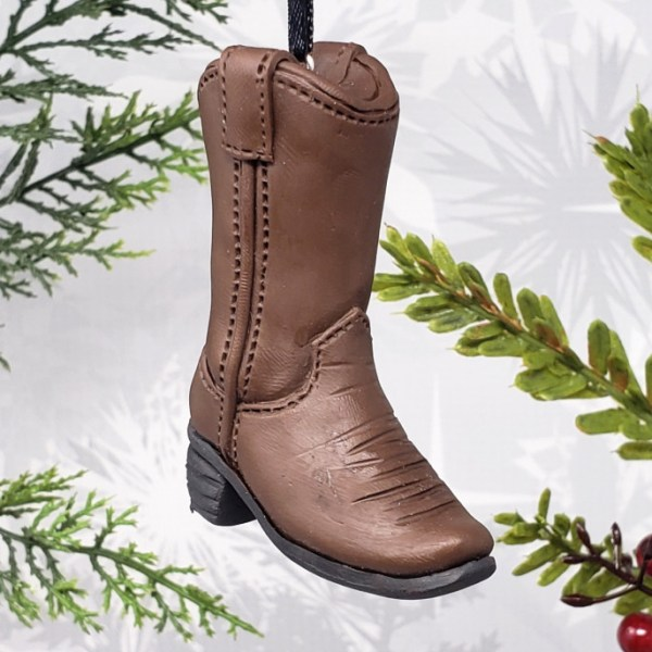 Cowboy Boot Christmas Ornament Cowgirl Bullriding Horse Back Riding Decoration