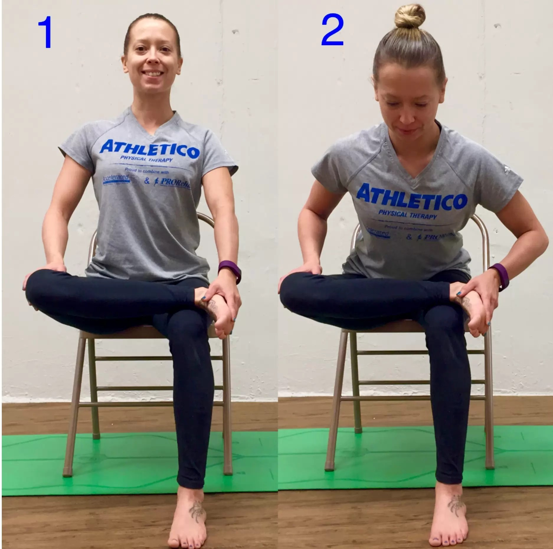 sitting down chair exercises wicker back repair stretch of the week seated piriformis athletico