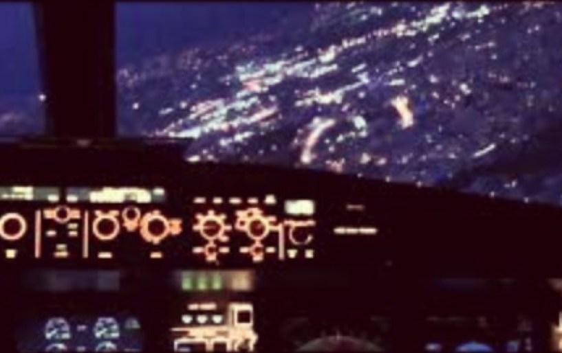 Θεαματικό βίντεο από πιλοτήριο αεροσκάφους