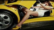 Hot girl in Lamborghini Guess what happens…