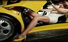 Hot girl in Lamborghini Guess what happens…