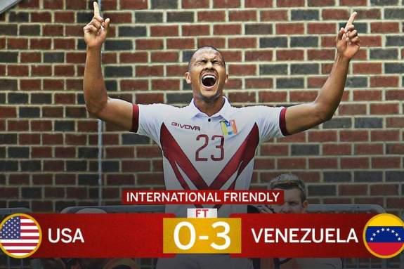 ΗΠΑ-Βενεζουέλα 0-3 [VIDEO]