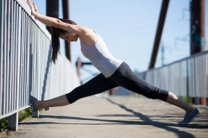 Street yoga: stretching exercises