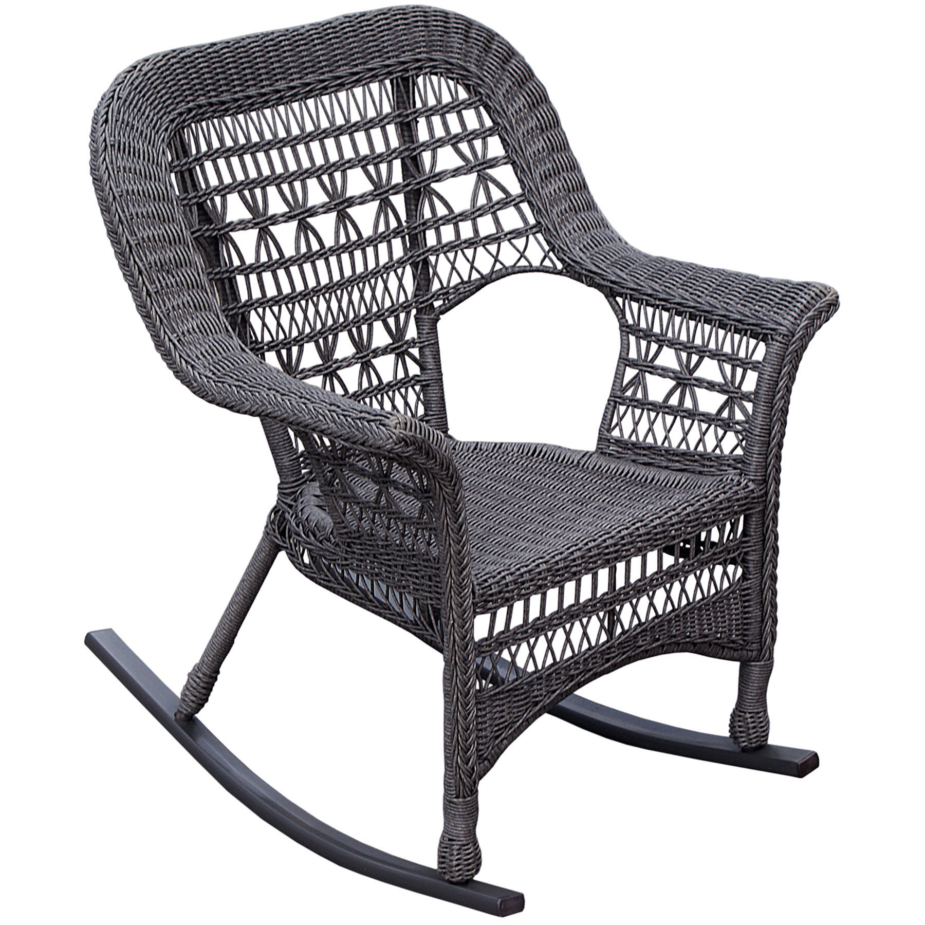 black wicker rocking chair outdoor dining room chairs dark brown patio at home grey