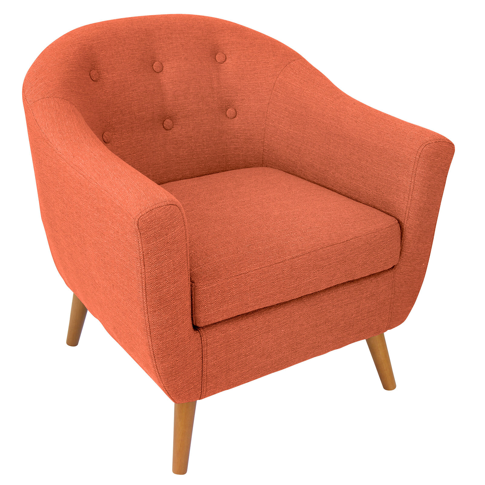 accent chair orange white club rockwell at home