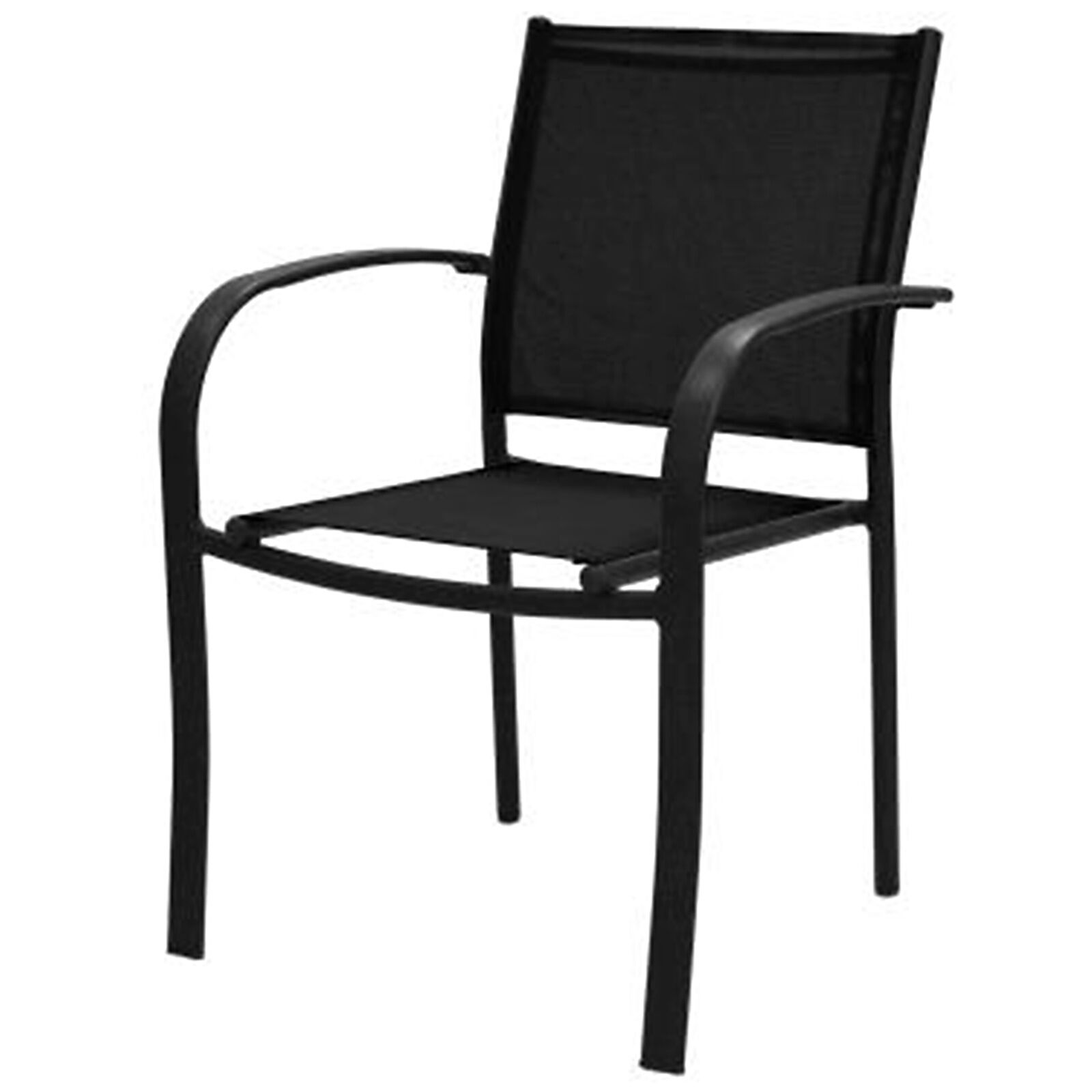 low back lawn chair 9 samsonite folding parts sling stack black at home