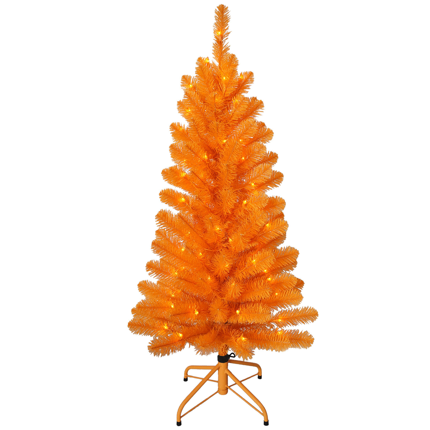F2 4ft Pre Lit Orange Christmas Tree At Home