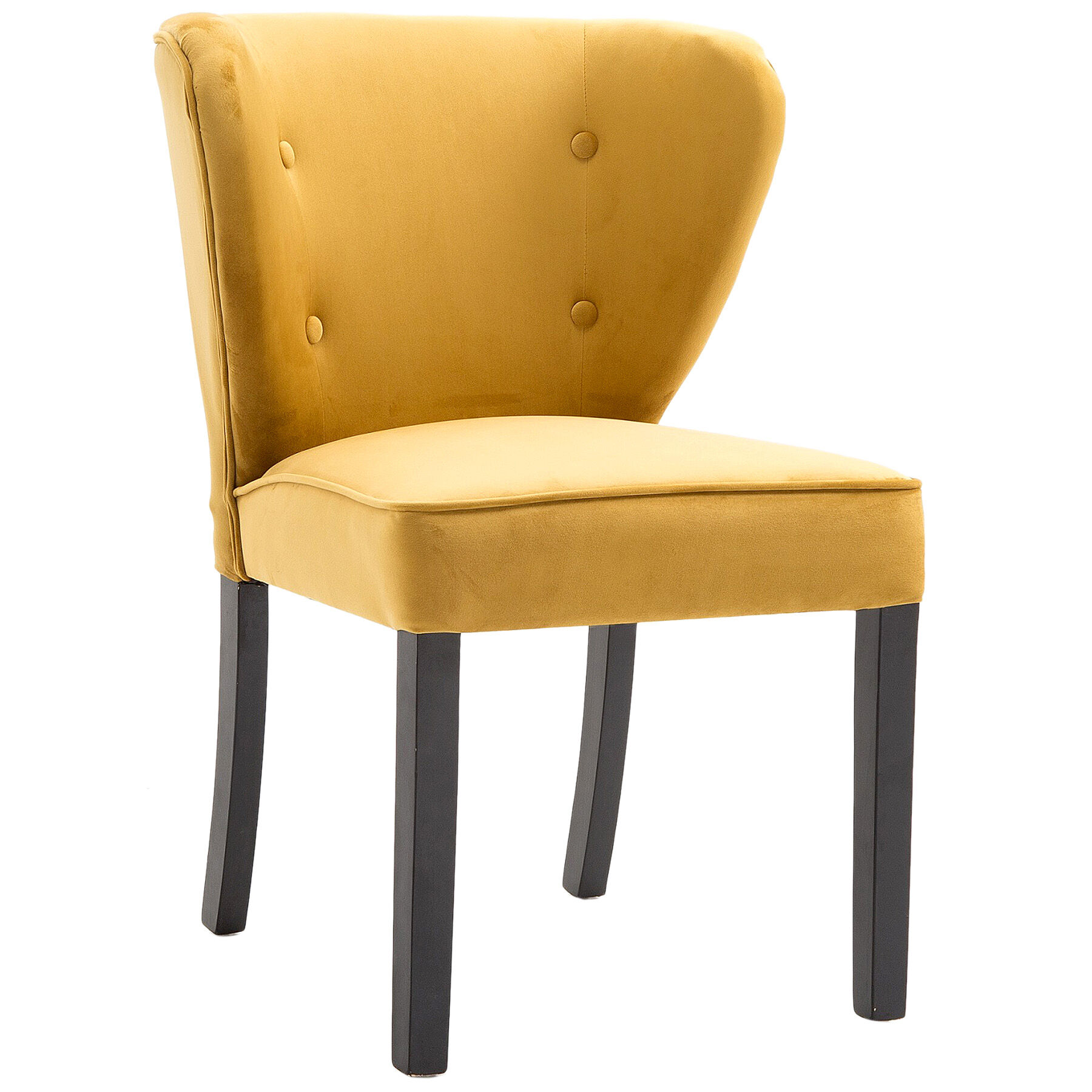 tufted yellow chair hawaii bennett velvet at home zoom