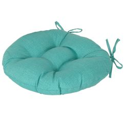 Teal Chair Cushions Covers For Sale Australia Peacock Round Seat Cushion At Home