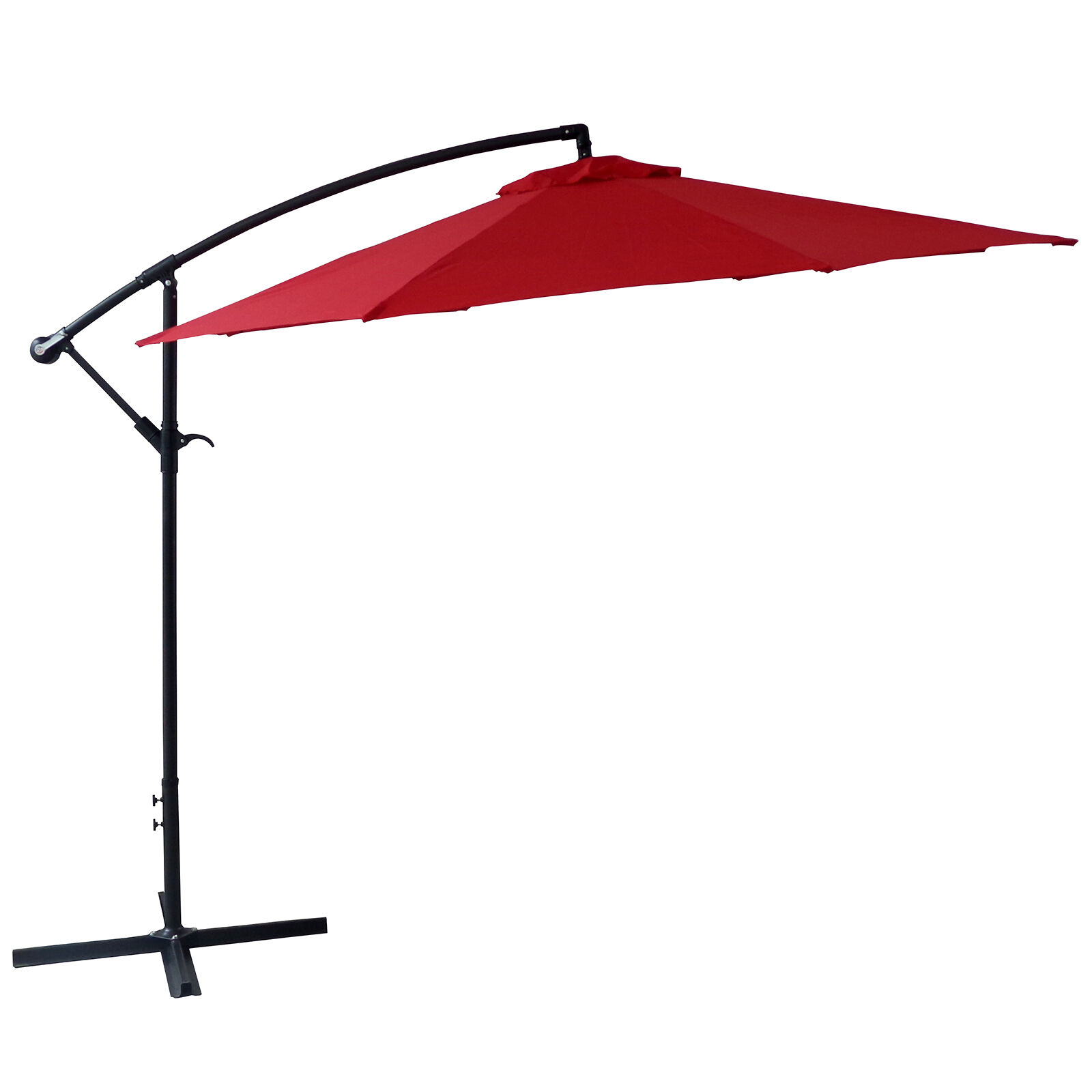 Offset Red Outdoor Umbrella 10ft  At Home