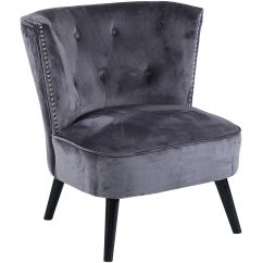 Grey Velvet Slipper Chair Black Dining Room Accent Chairs Collection At Home Stores Helena Tufted