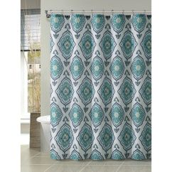 Colorful Kitchen Accessories Mosaic Tiles Blue And White Shower Curtain | At Home