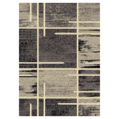 Black And White Kitchen Rug Cushions For Chairs Area Rugs At Home B324 Grey Abstract Square