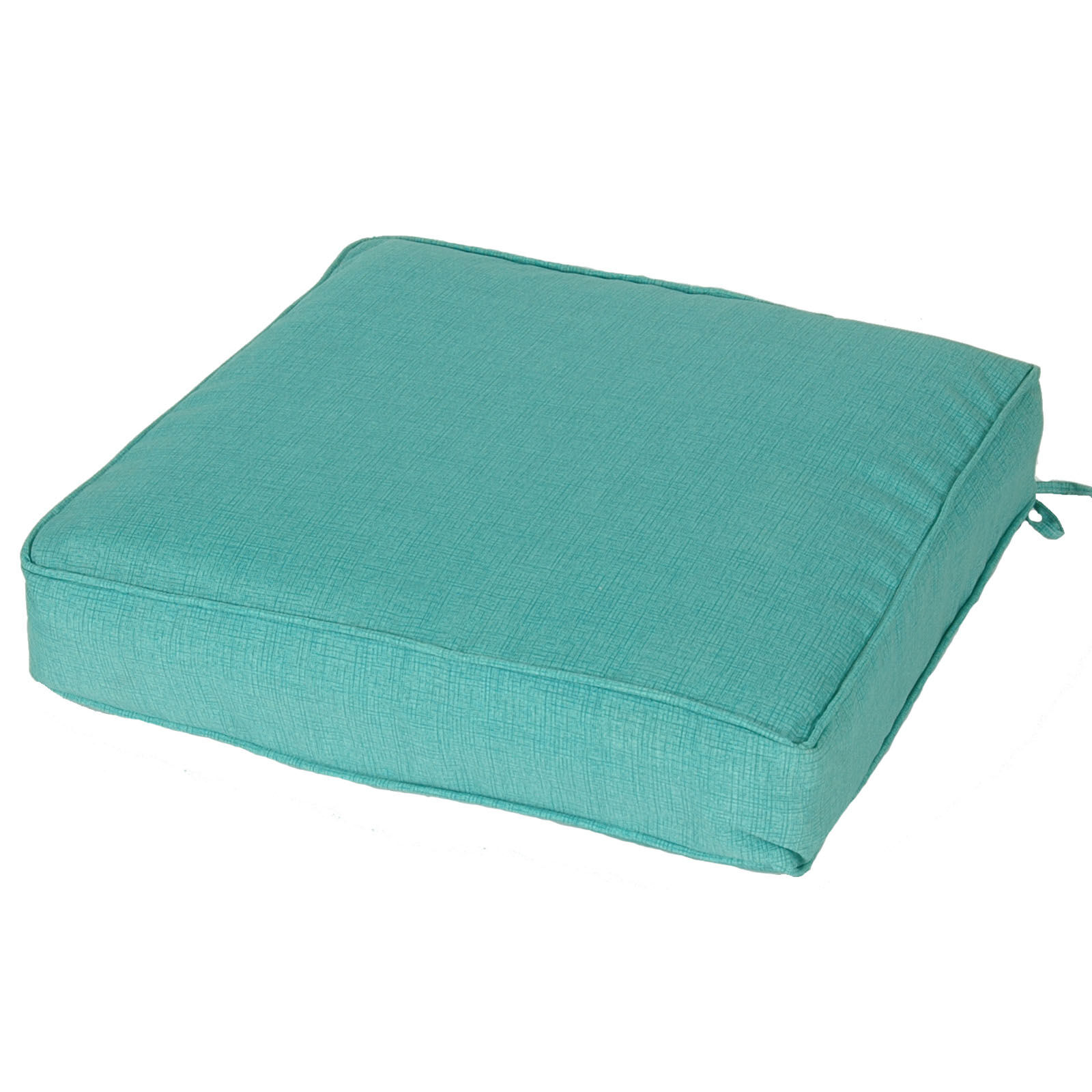 teal chair cushions cane swivel peacock single deep seat cushion at home