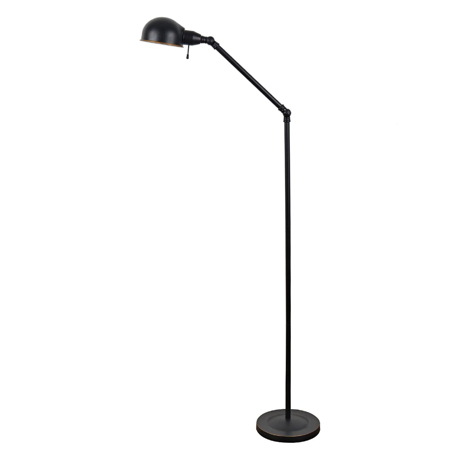 Metal Black Task Floor Lamp  At Home
