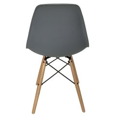 Eiffel Chair Wood Legs How To Make A Cover For Wedding Gray With At Home