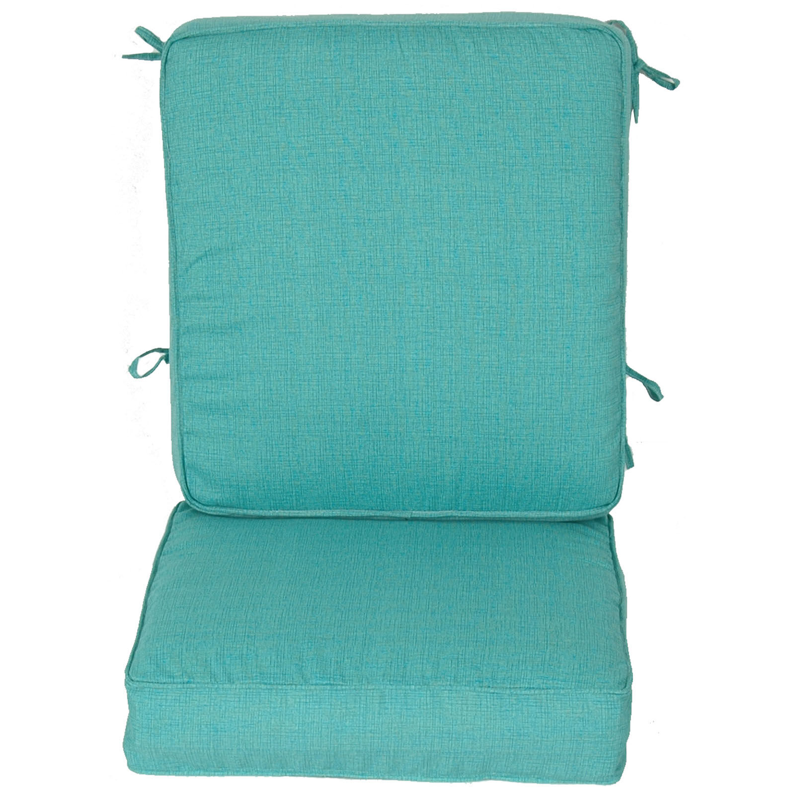 teal chair cushions cover for chaise lounge peacock 2 piece deep seat cushion at home